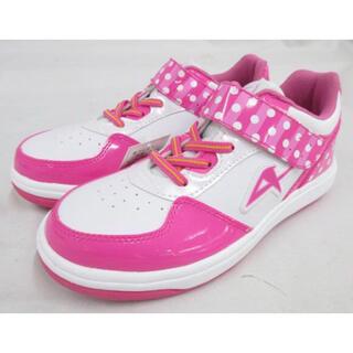 アサヒ(アサヒ)の新品 アサヒ キッズ スニーカー 運動靴 靴 女の子 ピンク 水玉 21.5(スニーカー)