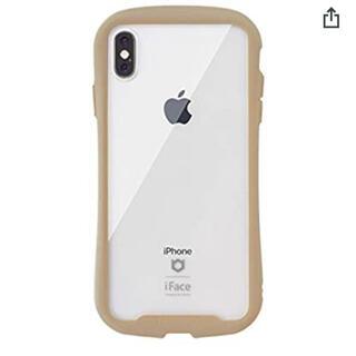 アイフォーン(iPhone)のiPhoneXS/X  iFace Reflection クリアケース ベージュ(iPhoneケース)