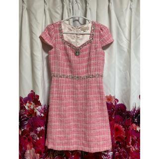 EmiriaWiz - EmiriaWiz ツイード ピンク ドレス ビジュー ♡