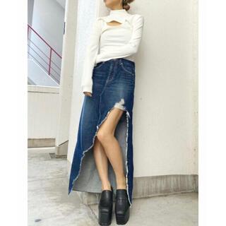 ジェイダ(GYDA)の新品❤️GYDA ジェイダ アシメロングスカートライクショーパン Sサイズ(ロングスカート)