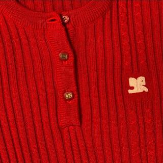 Courreges - クレージュ ニットセーター 赤