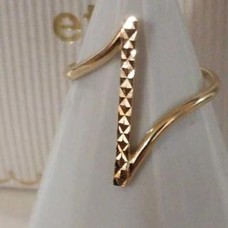 エテ(ete)のエテ K10 ライン リング 11号 ボリューム カーブ カット 完売 美品(リング(指輪))