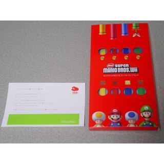 ウィー(Wii)のクラブニンテンドー スーパーマリオ オリジナルWiiリモコンストラップセット(その他)