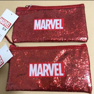 ディズニー(Disney)の【訳あり】 定価2,420円 MARVEL グリッターペンケース ①(ペンケース/筆箱)