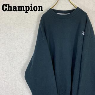チャンピオン(Champion)のチャンピオン スウェット トレーナー 刺繍ロゴ ブラック ゆるだぼ(スウェット)