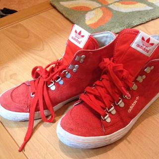 アディダス(adidas)のアディダス♡赤靴(スニーカー)