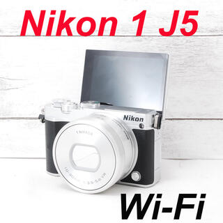 ニコン(Nikon)の❤️シャッター回数わずか464枚❤️Wi-Fi搭載❤️Nikon 1 J5(ミラーレス一眼)