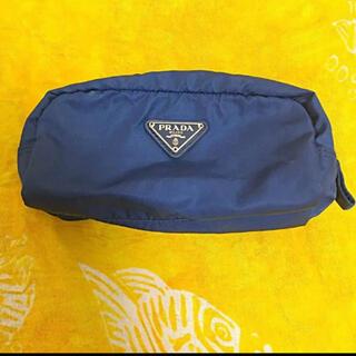 PRADA - プラダ ナイロンポーチ 三角ロゴ ブルー 青