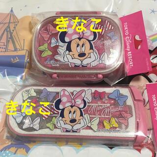 ディズニー(Disney)のディズニー ミニー ランチボックス カトラリーセット TDR(弁当用品)