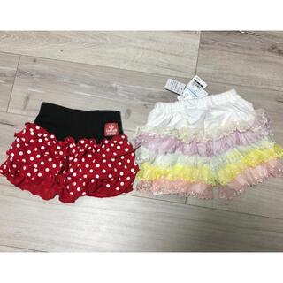 ニシマツヤ(西松屋)の90《西松屋》女の子 ミニー レース ショートパンツ インナー ベビー スカート(パンツ/スパッツ)