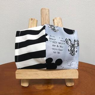 ハンドメイド【ミッキーフェイス】インナーマスク レディースサイズ モノトーン