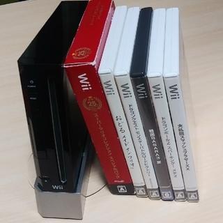 ウィー(Wii)の☆wii本体とソフト6本セット☆(家庭用ゲーム機本体)