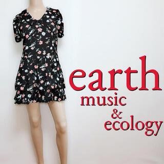 アースミュージックアンドエコロジー(earth music & ecology)の間違いなし♪アース フェミニン 段フレアワンピース♡ダズリン ジルスチュアート(ミニワンピース)