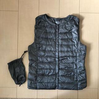 UNIQLO - ユニクロ 女性M ウルトラライトダウン インナーダウンベスト グレー 専用袋付き