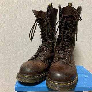 ドクターマーチン(Dr.Martens)のドクターマーチン 14ホール ブーツ ブラウン UK6(ブーツ)