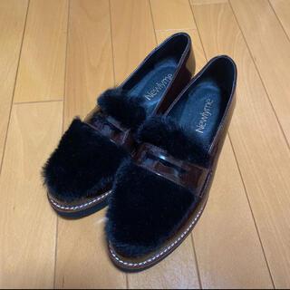 ウィゴー(WEGO)のフェイクファー プラットフォーム ローファー(ローファー/革靴)