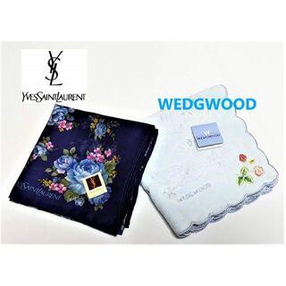 イヴサンローランボーテ(Yves Saint Laurent Beaute)のブランドハンカチ2枚セット イヴサンローラン/ウェッジウッド(ハンカチ)