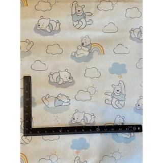 ディズニー(Disney)の新品●プーさん 海外正規品 綿100 110×50(生地/糸)