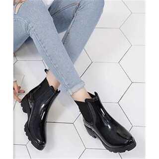 短い筒 滑り止めの靴 水靴 カジュアル 軟らかい底 レインシューズ(レインブーツ/長靴)