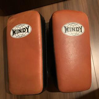 美品windyウィンディ本革キックミットKP-6(ボクシング)