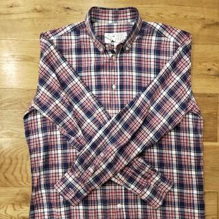 メゾンキツネ(MAISON KITSUNE')のメゾンキツネフランネル長袖カットソーポケット無しLサイズ赤紺白トムブラウン(シャツ)