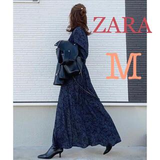 ZARA - ZARA プリント柄ワンピース 花柄ワンピース ロング ザラ 新品