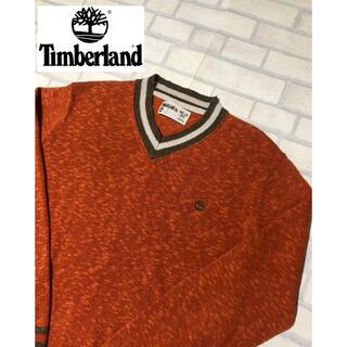 ティンバーランド(Timberland)のTimberland コットンリネン ニット セーター Lサイズ オレンジ(ニット/セーター)