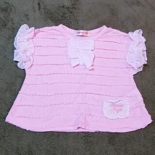 ピンク 半袖カットソー フリル 80cm(シャツ/カットソー)