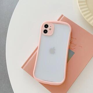 【新入荷】iPhone12/12proケース スマホケース クリアケース ピンク(iPhoneケース)