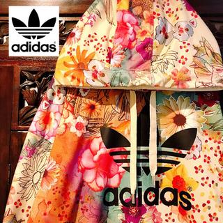 アディダス(adidas)のアディダス ファーム ジャージ パーカー トレーナー スウェット 花柄 (パーカー)