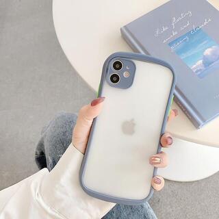 【新入荷】iPhone12/12proケース スマホケース クリアケース グレー(iPhoneケース)
