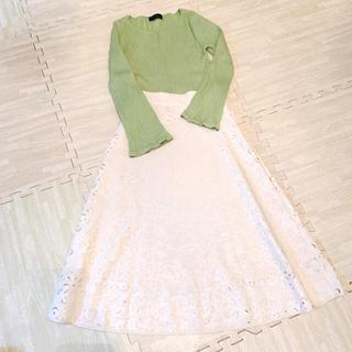 プロポーションボディドレッシング(PROPORTION BODY DRESSING)のセット♡ジャスグリッティーニット♡プロポレーススカート♡M(セット/コーデ)
