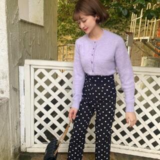 mohair knit tops -grape-(ニット/セーター)