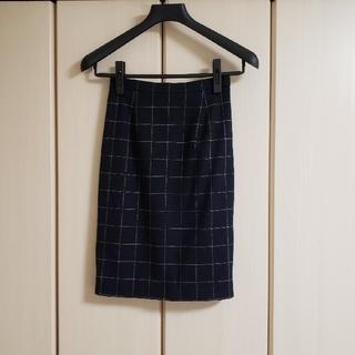定価9,000円程【LOURPHYLI ロアフィリー】タイトスカート ネイビー(ひざ丈スカート)