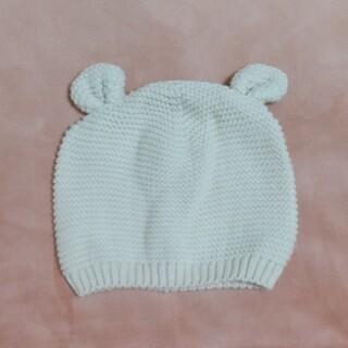 ベビーギャップ(babyGAP)のbaby GAP クマ耳ニット帽(アイボリー)44cm(帽子)