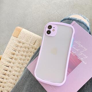 【新入荷】iPhone12 mini ケース スマホケースクリアケース 紫(iPhoneケース)