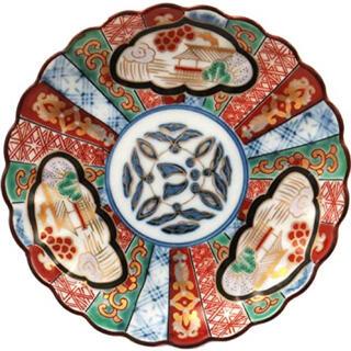 ハサミ(HASAMI)の林九郎窯 三方割元禄地紋 5号取皿五客揃 古伊万里様式(食器)