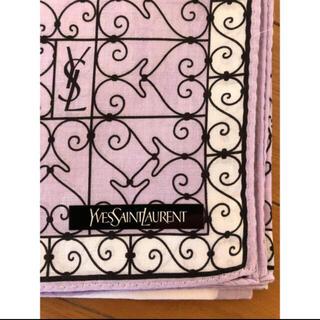 イヴサンローランボーテ(Yves Saint Laurent Beaute)の【お値下げ】【新品】Yves Saint Laurent ハンカチ 紫色(ハンカチ)
