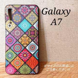 ◇Galaxy A7◇ モロッコタイル柄B マルチカラー ◇ G2(Androidケース)