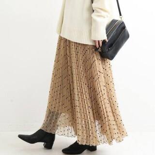 IENA - 【IENA】フロッキードットプリーツスカート
