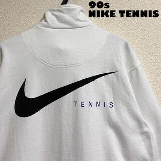 ナイキ(NIKE)の【90s】【美品】ナイキ テニス トラックジャケット スウェット 日本製 白(スウェット)