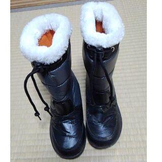 子供用スノーブーツ 防寒 長靴 19cm (ブーツ)
