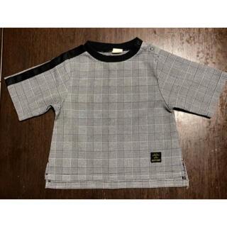 プティマイン(petit main)のpetit main(プティマイン)★グレンチェック柄Tシャツ(Tシャツ/カットソー)
