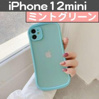 iPhone12Mini 半透明 ミント ケース カバー バンパー 保護(iPhoneケース)