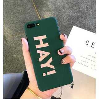 スマホケース iphone7 ロゴ グリーン PC素材 ポップ シンプル 保護(iPhoneケース)