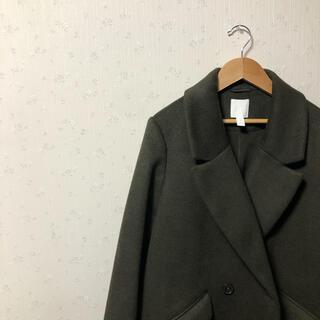 エイチアンドエム(H&M)の新品未使用 エイチアンドエム H&M チェスターコート ロングコート カーキ(ロングコート)