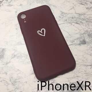ハート柄 iPhoneケース iPhoneカバー レッド XR(iPhoneケース)