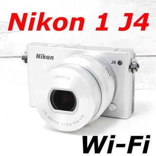 ニコン(Nikon)の❤️Wi-Fi搭載❤️シャッター回数わずか1282枚❤️Nikon 1 J4(ミラーレス一眼)