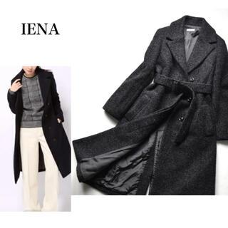 IENA - 定価59,400円 IENA  上質 モヘヤ ウール ベルトチェスターコート