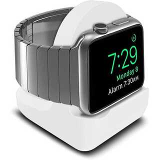 【A05】Apple Watch充電スタンド/クレードル ドック(白)(その他)